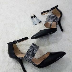 """Nine West Brytani Heels Black 10M 4"""" Heel Leather"""